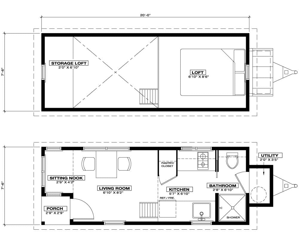 100 Cottage Company Floor Plans 3198 5 Front Master