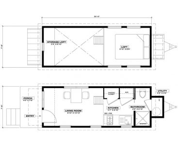 Ynez Tiny House Floor Plan